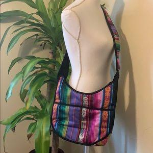Brightly colored crossbody bag